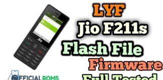 LYF Jio F211s Flash File (Firmware ROM)