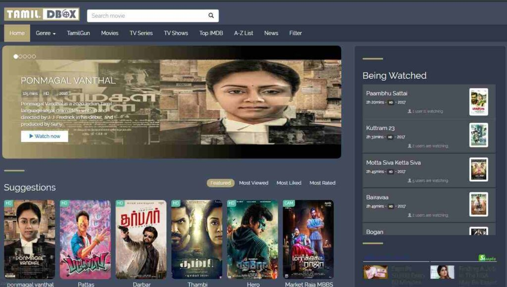 tamildbox 2020 Best Entertainment Site Download Movies But its Illegal