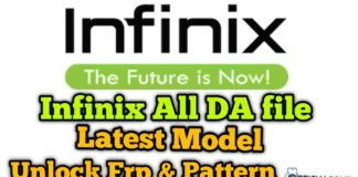 Infinix MTK Latest DA File Download All Infinix Model