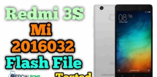 Redmi 3S Prime mi 2016032 Tested flash file