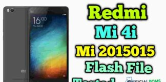 Redmi Mi 4i 2015015 Latest Flash File (Stock ROM)