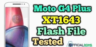 Moto G4 Plus xt1643 flash file Tested Stock ROM