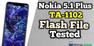 Nokia 5.1 Plus TA-1102 Flash File Tested File Hang On logo