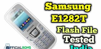 Samsung E1282T Flash File Full tested India