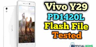 Vivo Y29 PD1420L flash file Tested (Stock ROM)