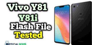 Vivo Y81 Flash File Y81i Stock ROM