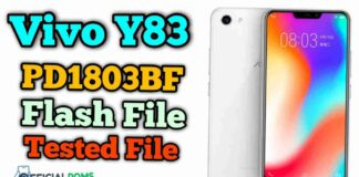 Vivo Y83 Flash File Tested PD1803BF (Firmware ROM)
