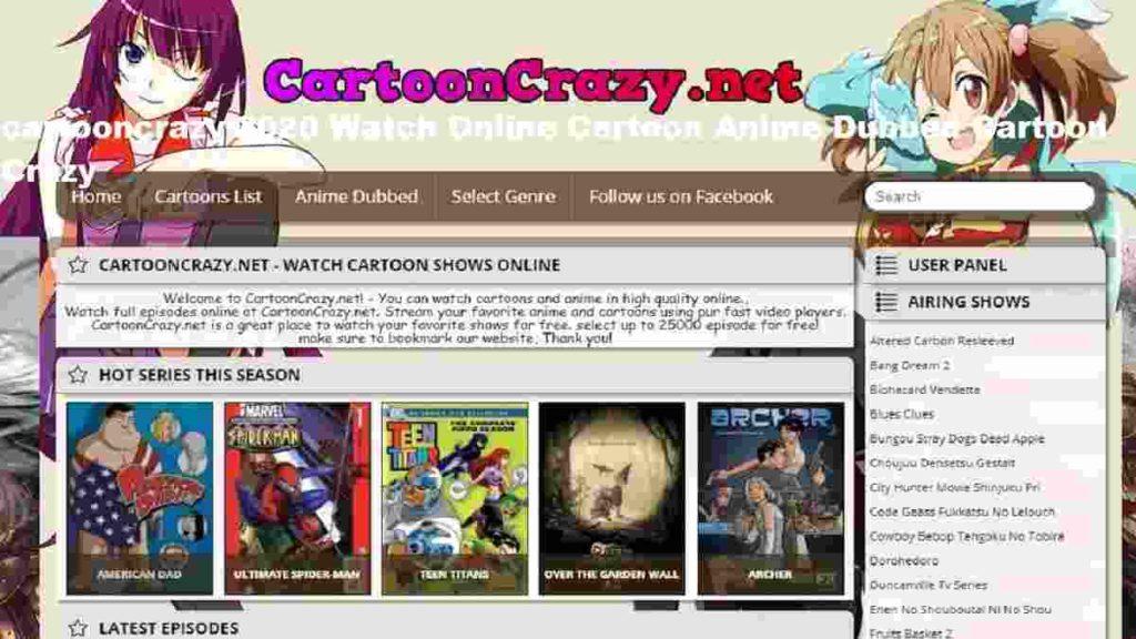 cartooncrazy 2020 Watch Online Cartoon Anime Dubbed Cartoon Crazy