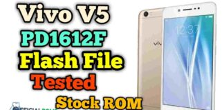 vivo v5 flash file PD1612F Tested (Stock ROM)