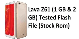 Lava Z61 Flash File