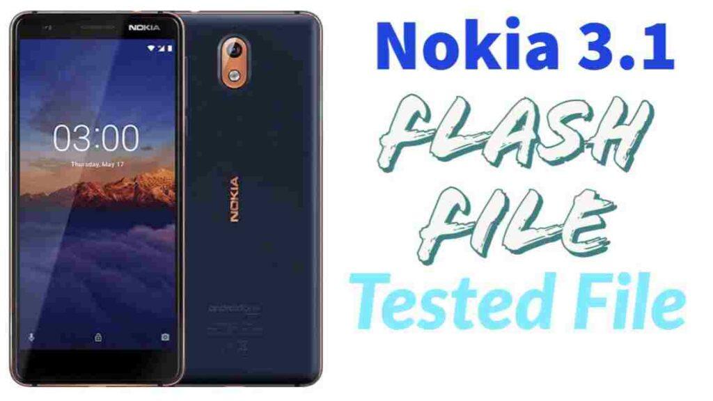 Nokia 3.1 Flash File Stock ROM (Firmware)