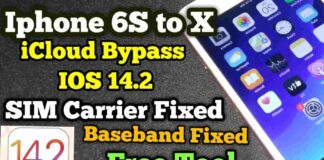 Iphone 6S to X icloud Bypass Checkra1n Windows Updated IOS 14.2
