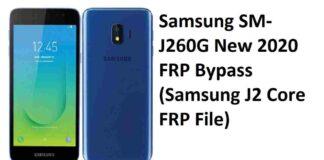 Samsung SM-J260G New 2020 FRP Bypass (Samsung J2 Core FRP File)