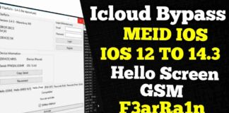 Bypass ICloud MEID IOS 14.3/ 14.2.2/ 14.2.1 F3arRa1n V 3.5.2
