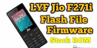 Jio f271i flash file Tested Firmware Stock ROM
