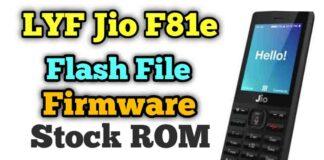 Jio F81e Flash File Download