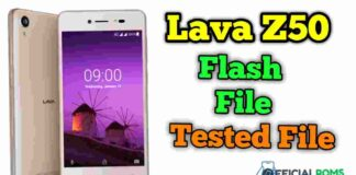 Lava Z50 Flash File Tested File Stock ROM