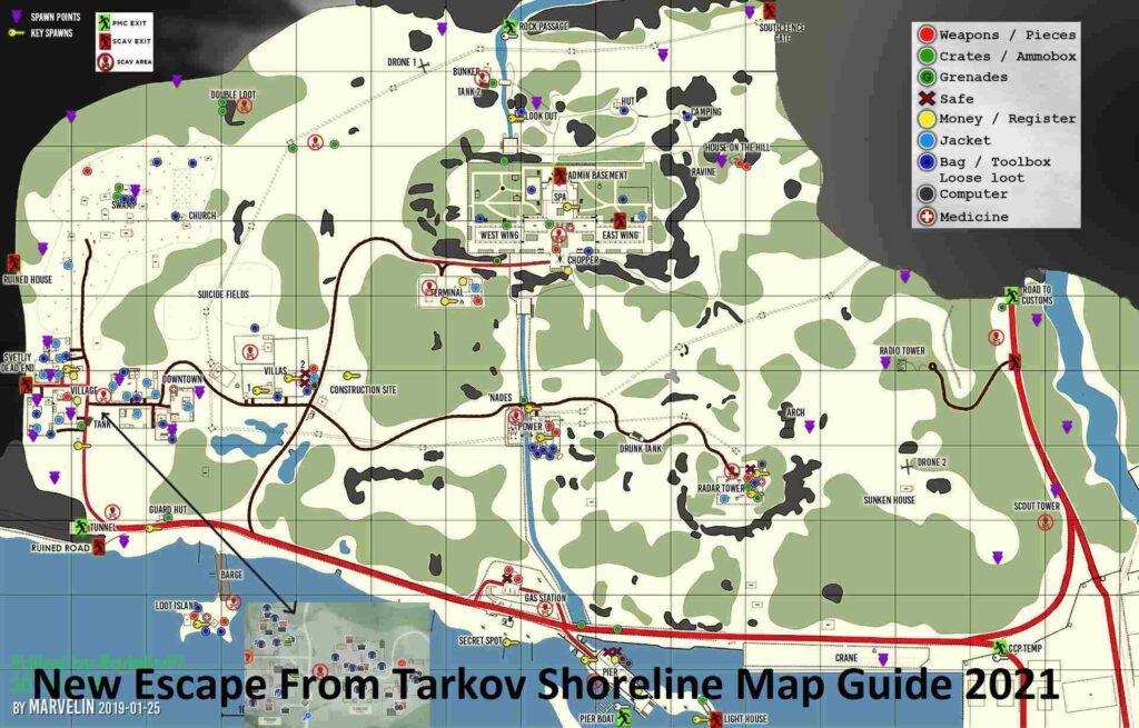 New Escape From Tarkov Shoreline Map Guide 2021