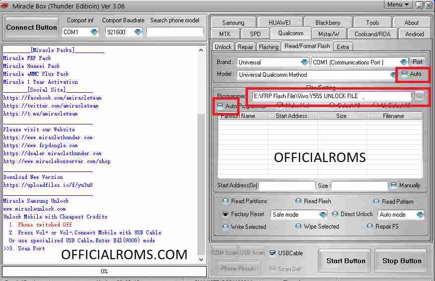 Vivo U20 PD1941F File & FRP File Unlock One Click Remove