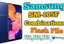 Samsung SM-A105F Combination File U1,U2,U3