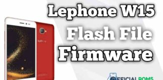 Lephone W15 Flash File