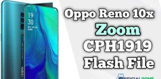 Oppo Reno 10x Zoom CPH1919 Flash File (Firmware)