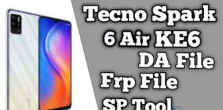 Tecno Spark 6 Air KE6 Da & Frp File SP Tool