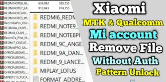 Collection Xiaomi MTK & Qualcomm Mi Account Remove File Without Auth