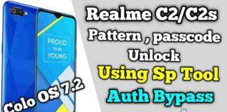Realme C2/C2s Pattern Unlock & Passcode Remove SP Tool
