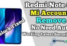 Redmi Note 8 Mi Account Remove (Relock Fixed) No Need Auth