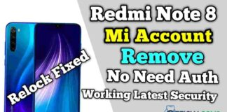 Redmi Note 8 Mi Account Remove (Relock Fixed) No Need Auth