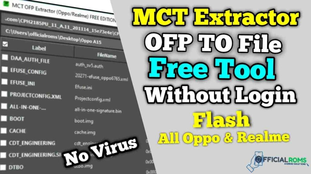 How to MCT Extract OFP File Using Free Tool | All Oppo & Realme