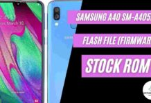 Samsung A40 SM-A405FN Flash File (Stock ROM)