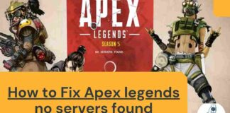 How to Fix Apex legends no servers found