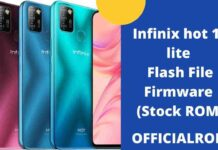Infinix hot 10 lite Flash File