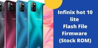 Infinix hot 10 lite Flash File