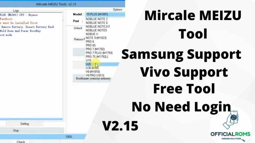 Miracle Meizu Tool 2.15 No Need Login Free Tool Everyone