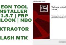 Neon tool Installer v1.5.7 | FRP Unlock | Nbo extractor |Flash MTK