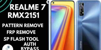 Realme 7 RMX2151 Pattern Unlock offline Using SP Flash Tool