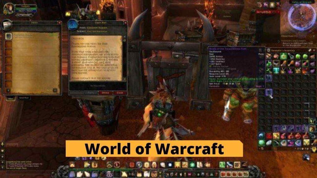World of Warcraft item restoration wow Games 2021