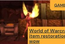 World of Warcraft item restoration wow