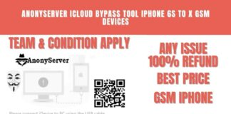 anonyserver Icloud Bypass Tool Iphone 6s to X GSM Devices