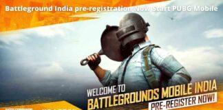 Battleground India pre-registration Now Start PUBG Mobile