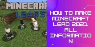 How to Make Minecraft lead 2021 All Information