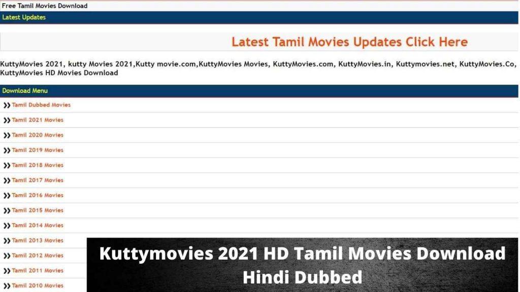 Kuttymovies 2021 HD Tamil Movies Download Hindi Dubbed