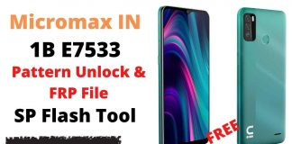 Micromax IN 1B E7533 Pattern Unlock & FRP File SP Flash Tool