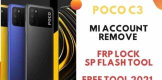 Poco C3 Mi account Remove & Frp Lock SP Flash Tool