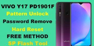 Vivo Y17 Pattern Unlock PD1901F Using Free SP Flash Tool