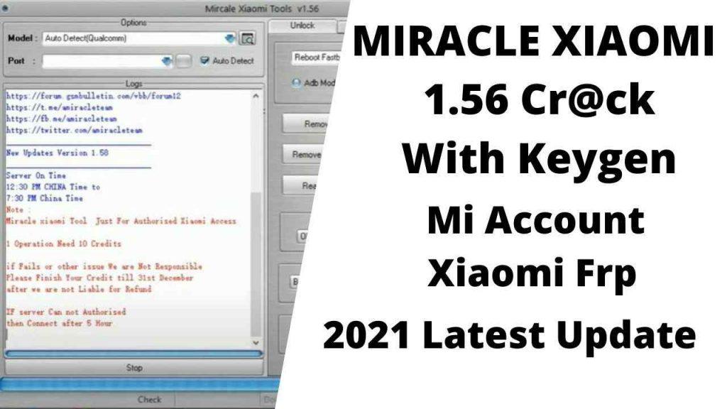 Miracle Xiaomi Tool 1.56 Free No Need Login  Error Fixed