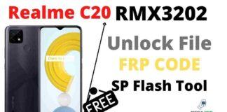 Realme C20 Unlock File & Frp File, Factory Reset SP Flash Tool